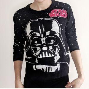 EUC Star Wars Darth Vader night sky sweater